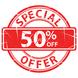 Online square 50 percent sign