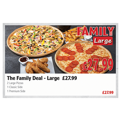 Pizza Time The Family Deal - Large (£ 27.99)