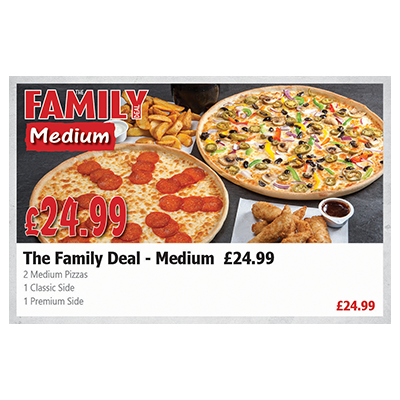 Pizza Time The Family Deal - Medium (£ 24.99)