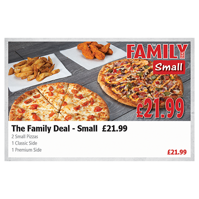 Pizza Time The Family Deal - Small (£ 21.99)