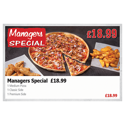 Pizza Time Manager Special (£18.99)