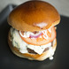 Online square blue cheese burger
