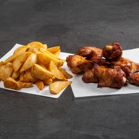 Pizza Time BBQ Chicken Wings & Wedges Combo
