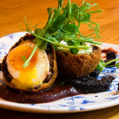 Berties Fish & Chips Black Pudding Scotch Egg