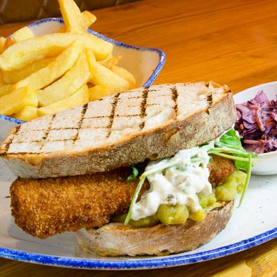 Berties Fish & Chips Bertie's Fish Finger Sandwich