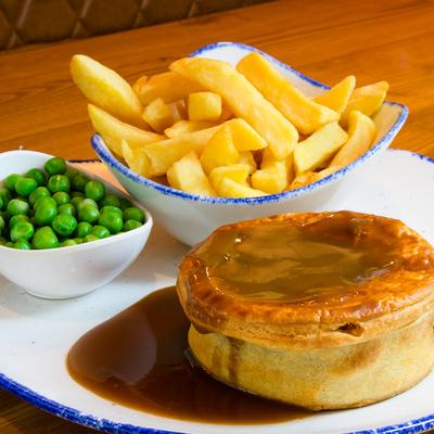 Berties Fish & Chips Steak Pie