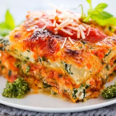 Basilico Ltd Spinach and ricotta lasagne