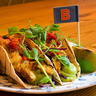 Berties Fish & Chips Halloumi Tacos