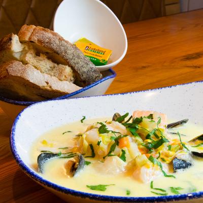 Berties Fish & Chips Bertie's Seafood Chowder
