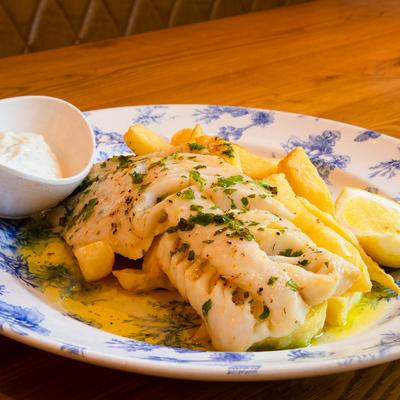Berties Fish & Chips Baked Cod