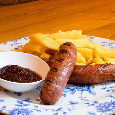 Berties Fish & Chips Grilled Smoked Sausage