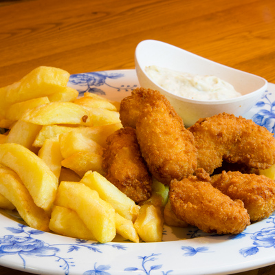 Berties Fish & Chips Whitby Scampi