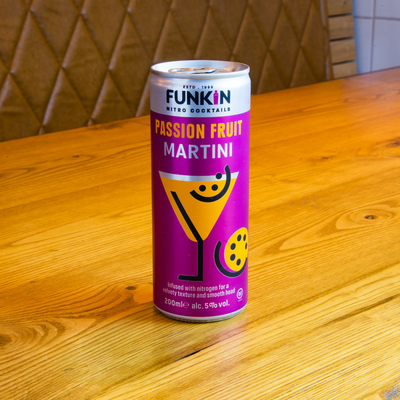 Berties Fish & Chips Funkin Passion Fruit Martini Cans
