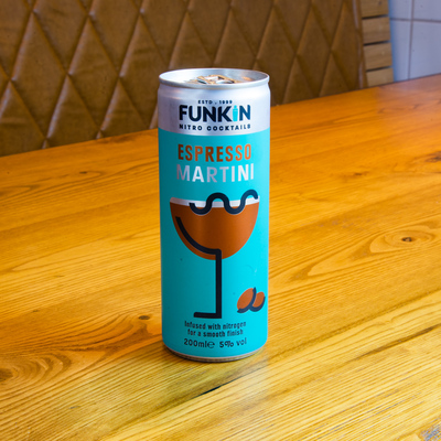 Berties Fish & Chips Funkin Espresso Martini Cans