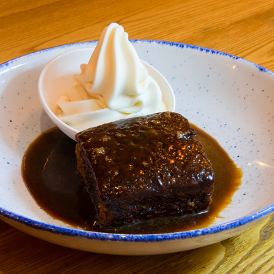 Berties Fish & Chips Sticky Toffee Pudding