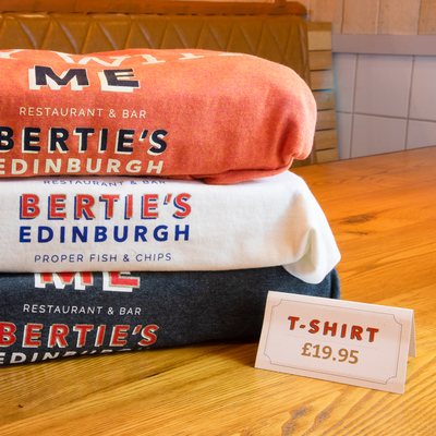Berties Fish & Chips Bertie's t-shirts